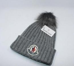bonnets ball Promotion Mode m0ncIerr designer de luxe hiver marque hommes bonnet Bonnet femmes Casual à tricoter hip hop Gorros pom-pom bonnets de crâne cheveux boule en plein air