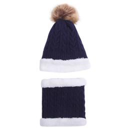 cappelli divertenti invernali del bambino Sconti Cappello divertente di moda Bambini Cappello per bambini Autunno Inverno Caldo bavaglino a due pezzi Cute Hairball Knit Cap donne inverno