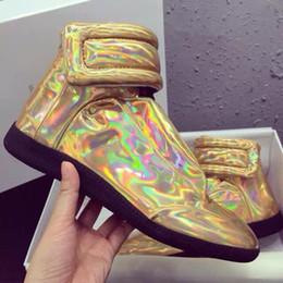 zapatillas margiela Rebajas 2019 Pisos a pie de envío libre caliente Maison Martin Margiela Top Zapato de los hombres de los zapatos, moda MMM Formadores Kanye West Zapatos ocasionales de los deportes