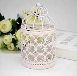 2019 elfenbein teelichter Metall Birdcage Kerzenhalter Hohl Eisen Vintage Schmiede Moderne Dekoration Hochzeit Romantische Valentinstag Geschenk