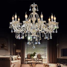 accesorios de luz colgante polea Rebajas Modernas lustres araña de cristal de la sala de colgantes de cristal de decoración y lámpara de interior Lámparas Iluminación para el hogar