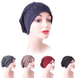 79ef966fdb51b 1PCS Fashion Pearl Winter Hat For Women Solid Fives Colors Beanies Female  Winter Beanies Caps Soft Warm Cotton Hats Ladies Gifts