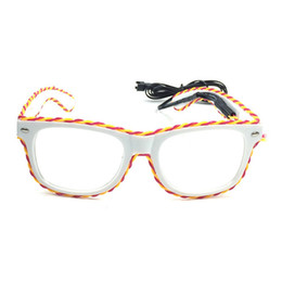 2019 lila partei gläser Blinkende Gläser LED-Brillen-Halloween-Party-Bevorzugungen liefert Dekoration Neuheiten (Gelb VS Purple) günstig lila partei gläser