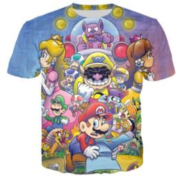 04d11e102 2019 mario novo camisetas Clássico Dos Desenhos Animados Super Mario New  Style Design de Moda Quente