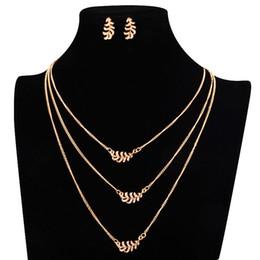 Argentina YOBEST Moda Para Mujer de Color Oro Classic Hollow Leaf Austria Cristal Collar Pendientes Conjuntos de Joyas de Boda Al Por Mayor Suministro