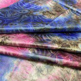 Tie tintura tessuto stampato di alta qualità bazin riche tessuto broccato di guinea brocade bazin brode pizzo 5 yards / lotto LY da commercio all'ingrosso di tessuto floreale 3d fornitori