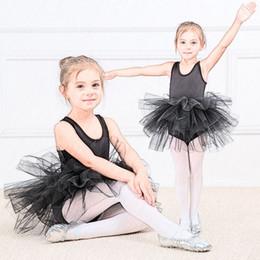 2019 tutus profesionales Chica de moda vestido de tutú de ballet Niños profesionales bailando Vestido de fiesta Traje de rendimiento Princesa Vestido de niña de boda 2-8 Ys tutus profesionales baratos