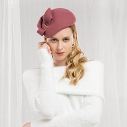 2019 angepasste hüte Dame Fedoras Wollhut Mädchen Winter Neue Wollhut Mode Woll Fedoras Cap Joker Herbst Winter Englisch Einstellen A07 günstig angepasste hüte