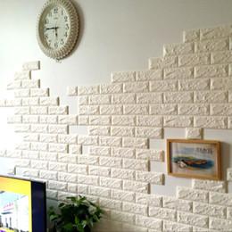 Papel de parede tijolo dimensional on-line-Proteção tijolo Wallpaper 3D tridimensional parede Paste Kindergarten PE Sala anti-colisão auto-adesivo parede saia Waterproof