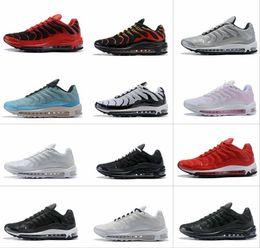 2019 97 Plus TN Hot Sale Designer Shoes Negro Blanco Naranja Hombres Entrenadores Corriendo para alta calidad 97s Jogging Sneakers Tamaño 36-46 desde fabricantes