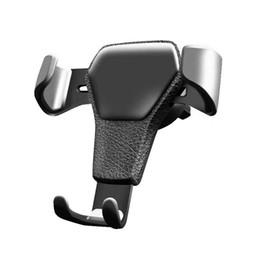 2019 amplificador de teléfono celular Soporte del soporte de cuna de ventilación de aire del vehículo de gravedad para iPhone, teléfono celular móvil GPS con envío gratis