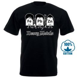 Toptan T Shirt Kısa Kollu Ağır Metaller Periyodik Tablo Bilim Grafik Serin Çok Komik T Shirt Erkek T Gömlek supplier wholesale heavy metal t shirt nereden toptan ağır metal tişört tedarikçiler