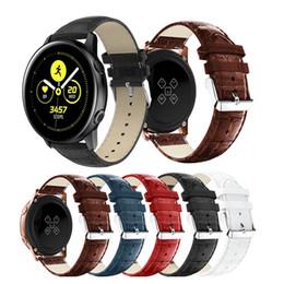 2019 ersatz für uhren Für galaxy watch 42mm armband für samsung galaxy active 20mm leder sporthandgelenk ersatzband armband armband günstig ersatz für uhren