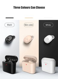 headphones small ears Promo Codes - Mini BL1 Wireless Bluetooth headphones earphones earbuds Stereo Small Single Earphone with 700mAh charging box Invisible Earpiece Headset