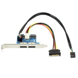 2019 disques durs internes pour ordinateurs portables Adaptateur de port USB double adaptateur SATA vers 5V 12V pour alimentation sur Esata Convertir une carte de conversion d'extension Se connecter à 2,5 pouces 3,5 pouces dur