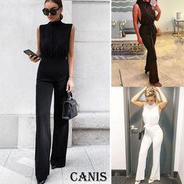 2019 tuta arancione all'ingrosso Pantaloni pagliaccetti per tuta da donna aderenti estivi da clubwear da donna