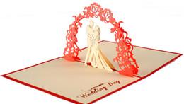 cumprimentos do dia de mães Desconto Dia dos Namorados CARTÕES de Casamento Convites Delicadeza Presente Artesanal Criativo 3D Cartões Pop Up Presente personalizável 10X15 CM