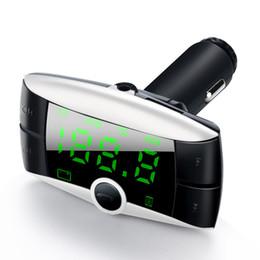 2019 adaptador de mechero bluetooth Car Kit FM Transmisor inalámbrico Bluetooth Bluetooth Reproductor MP3 modulador dual USB cargador de coche adaptador de encendedor adaptador de mechero bluetooth baratos