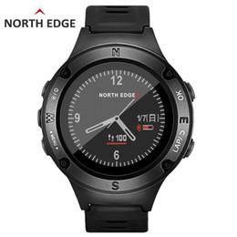 2019 relojes deportivos de altímetro NORTH EDGE Sports Men Watch Impermeable 50 m Ritmo Cardíaco Relojes Digitales GPS Reloj Inteligente Altímetro Barómetro Brújula Horas Senderismo rebajas relojes deportivos de altímetro