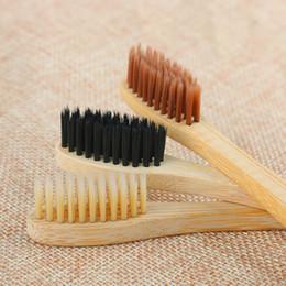 Charbon de bois doux Brosses à dents en bambou Nettoyant de la langue Prothèse Dents Kit de voyage Brosse à dents Pour adultes et enfants ? partir de fabricateur
