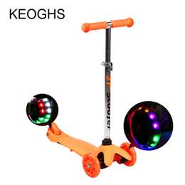 Scooter de chute infantil bebê criança PU 3wheels LED esporte ao ar livre desmontagem de musculação plástico altura ajustável de