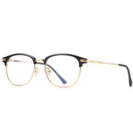 novo telemóvel transparente Desconto Nova moldura de metal ouro óculos homens e óculos de computador das mulheres óculos de estudante telefone móvel óculos de TV computador óculos de lentes transparentes