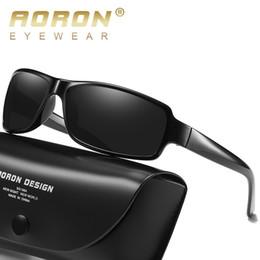 421bdd0be0622 AORON Óculos De Sol Dos Homens Polarizados Retângulo Do Vintage Esporte  UV400 Alta Qualidade Retro HD Óculos De Sol Para As Mulheres Espelho de  Luxo Marca
