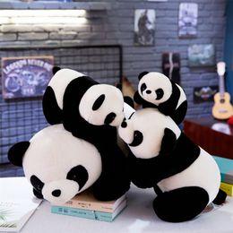 animali carino panda roba Sconti New Fashion Cute Panda Shape Peluche Morbido Peluche Bambola Decorazione della casa New Cute Peluche 3132