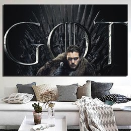 Moderne stagioni d'arte online-Iron Throne Game of Thrones Stagione 8 Canvas Poster Prints Wall Art Painting Immagine decorativa Modern Kitchen Bedroom Home Decoration