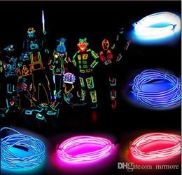 cocktails träume neonschild Rabatt 3 Mt Flexible Neonlicht Glow EL Drahtseil Auto Dance Party Kostüm + Controller Weihnachten Urlaub Decor Licht