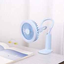 Pequeño enfriador de luz online-Ventilador USB portátil flexible con luz LED Ventilador ajustable de 2 velocidades Mini ventilador Práctico Escritorio pequeño Ventilador de enfriamiento USB de escritorio para niños