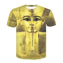 Pintura egípcia on-line-3D Camiseta Faraó do Egito Impressão Homens Mulheres Tshirt Mummy Pintura T-shirt Tee Tops Plus Size M-4XL