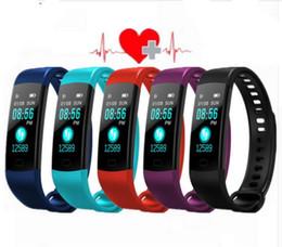wholesale Y5 Smart Band Watch 6 Color Screen Wristband Heart Rate Activity Fitness tracker Smart Bracelet nereden ücretsiz numuneler gözlükleri tedarikçiler