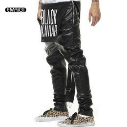 jumpsucks punk Sconti Pelle Street Fashion Hiphop stile punk Uomini Donne In generale Bretelle bretelle per pantaloni maschile tuta casual in pelle Pantaloni harem