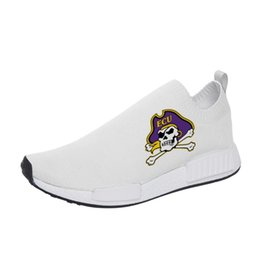 Sapatas do leste on-line-AAC East Carolina Pirates Homens sapatos causais personalizados Verão Confortáveis ​​sapatos leves de amarrar