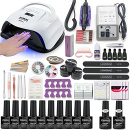 Nagellack-trocknerlampe online-Nail Set mit Maniküre Maschine Gel-Nagellack-Set für Kit UV-LED-Lampen-Trockner-Art Tools Kit Extention Gel