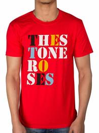 Rosas rojas perlas online-Camiseta oficial con el logotipo de la fuente The Stone Roses One Love Red Pearl Bastard Todos los tamaños