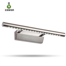 nuovi modelli hanno condotto luci Sconti Nuovo modello Specchio LED 5W 7W 180 ° regolabile bianco caldo bianco bagno Luce Luce trucco in acciaio inox