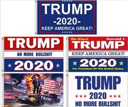 2019 ленточные баннеры Сохраняйте Америку Великой 2020 Дональд для Президента США Флаги президентских выборов Флаг Трампа 3x5 G483