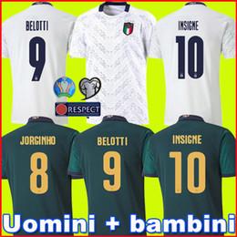 Italien weg jersey online-2019 2020 BARELLA SENSI INSIGNE Fußball Jersey 19 20 European Cup Renaissance CHIELLINI BELOTTI ITALIEN Bernardeschi Fußball-Hemden Männer Kinder