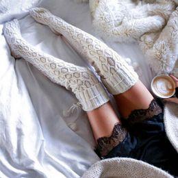 Argentina Medias de algodón de alta calidad para mujer Medias hasta el muslo sexy sobre las rodillas para mujer Color sólido Gruesos calcetines largos cálidos cheap cotton solid thigh high socks Suministro