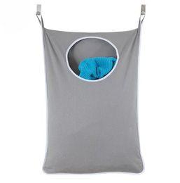 Переработка одежды онлайн-Висит Корзина Для Белья Над Дверью Большой Емкости Для Хранения Грязной Одежды Портативный Прочный Оксфорд Ткань Рециркуляции Мешок Hk-80 C19041701