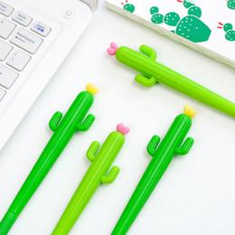 Cartone animato cactus penna gel 0.38mm bambini neri Writing Pen Office Eexamination Limited Materiale per ufficio Materiale scolastico all'ingrosso E-PACKET gratuito supplier wholesale cactus pens da penne di cactus all'ingrosso fornitori