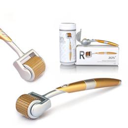 2019 rodillo de aguja derma profesional Agujas profesionales Titanium Derma Roller TM ZGTS 192 para el tratamiento de la pérdida de cabello para el cuidado facial rodillo de aguja derma profesional baratos