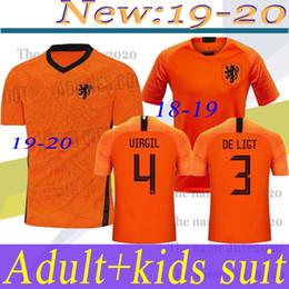 Jerseys tailandeses envío gratis online-el envío libre de la calidad tailandesa 2020 Holanda jerseys del fútbol camiseta de fútbol de fútbol de Holanda DE JONG van Dijk VIRGILIO Jersey MEMPHIS PROMES