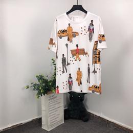 2019 camisa roja del ancla Hombres Summer Car graffiti personajes interesantes Camiseta de manga corta de algodón Hombres Moda Alta calidad Nuevo diseño Venta caliente Camiseta Hombres Top Tees