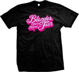 Sexy t-shirt sprüche online-Blondinen haben mehr Spaß Sprüche Lustige Partei Swag Sexy Hot Humor Herren T-Shirt