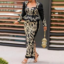 2019 roupas muçulmanas por atacado Vestidos Africano para Mulheres Evening Partido Longa Fashion Dress Bodycon África Vestem roupas Africano Robe Africaine Femme