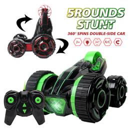 coche de radio a la deriva Rebajas 2017 Rc Car 6ch 5 ruedas Spinning Buggy Cars Rotación rápida Rastreadores Rc Drift Intermitente Stunt Car con Radio Control remoto Car!