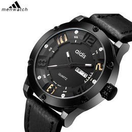 лучшие водонепроницаемые спортивные часы Скидка  Best  Men's Simple Wristwatch 30M Waterproof Leather Band High Quality Man Quartz Watches Sports Outdoor Wrist Watch